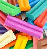Красочная предпосылка пластилина стоковая фотография rf