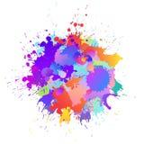 Красочная предпосылка с падениями краски искусства, пятна знамени иллюстрация вектора