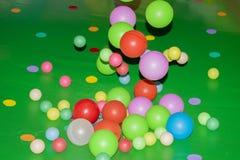 Красочная предпосылка шариков ½ e ¿ dragï радуги Игрушка ` s детей шариков Стоковое фото RF