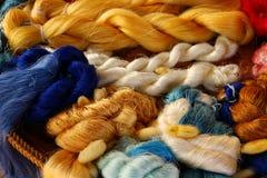 Красочная предпосылка Silk пряжи стоковое фото rf