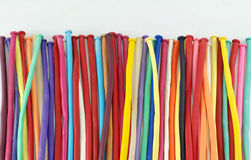 Красочная предпосылка белизны воздушных шаров Стоковое Изображение RF
