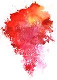 Красочная предпосылка белизны выплеска акварели Стоковая Фотография