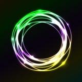 Красочная предпосылка влияния круга плазмы Стоковые Изображения RF