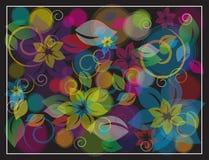 красочная предпосылка графика цветка Стоковое Фото