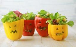 Красочная предпосылка еды хеллоуина Стоковое Изображение