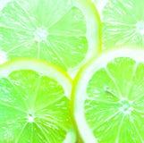 Красочная предпосылка зеленых известок Стоковое Фото