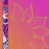 Красочная предпосылка картины цветков флористическая рамка обрамляет серию также вектор иллюстрации притяжки corel Стоковое Изображение RF