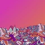 Красочная предпосылка картины цветков флористическая рамка обрамляет серию также вектор иллюстрации притяжки corel Стоковая Фотография RF