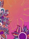 Красочная предпосылка картины цветков флористическая рамка обрамляет серию также вектор иллюстрации притяжки corel Стоковое фото RF