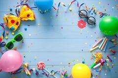 Красочная предпосылка дня рождения или масленицы Стоковое Фото