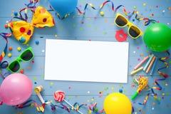 Красочная предпосылка дня рождения или масленицы Стоковые Фотографии RF