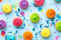 Красочная предпосылка партии пирожного Стоковое Фото
