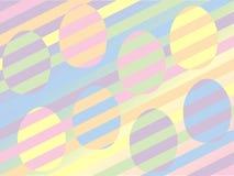 Красочная предпосылка пасхального яйца на белизне Стоковая Фотография RF