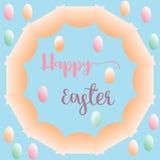 Красочная предпосылка пасхи поздравительной открытки яичек Стоковые Фото