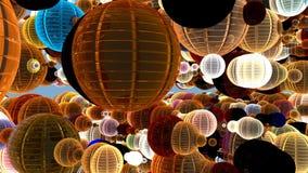 красочная предпосылка сферы 3d, отснятый видеоматериал запаса иллюстрация штока