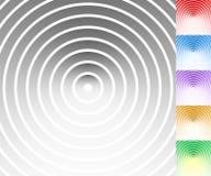Красочная предпосылка установила с кругом, овальными формами Стоковые Фото