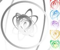 Красочная предпосылка установила с кругом, овальными формами Стоковое Изображение