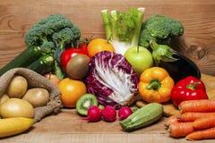 Красочная предпосылка фруктов и овощей Стоковая Фотография