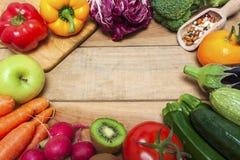 Красочная предпосылка фруктов и овощей Стоковое Изображение