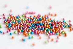 Красочная предпосылка шариков dragee Ranbow Дизайн картины фото для знамени, плаката, рогульки, карточки, открытки, крышки, брошю Стоковые Изображения