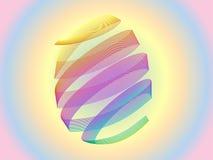 Красочная предпосылка яичка праздника пасхи Стоковое Изображение