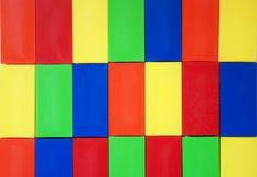 Красочная предпосылка ярких прямоугольных деталей Стоковая Фотография RF