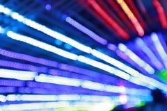 Красочная предпосылка bokeh лампочки конспекта citylife с нерезкостью движения Стоковая Фотография RF