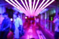 Красочная предпосылка bokeh лампочки конспекта citylife с нерезкостью движения Стоковые Изображения