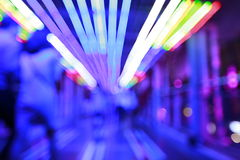 Красочная предпосылка bokeh лампочки конспекта citylife с нерезкостью движения Стоковые Изображения RF