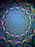Красочная психоделическая картина Стоковая Фотография