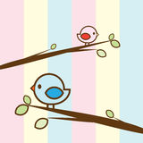 Красочная птица пар Иллюстрация вектора