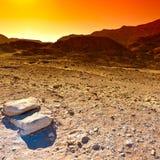 Красочная пустыня в Израиле Стоковая Фотография