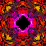 Красочная пламенистая иллюзия черной дыры 3D сделала безшовный Стоковая Фотография