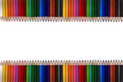 Красочная рамка 01 карандаша Стоковое Изображение RF