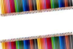 Красочная рамка 03 карандаша Стоковое Изображение RF