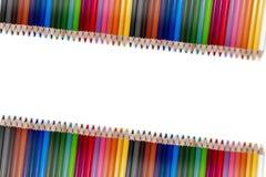 Красочная рамка 04 карандаша Стоковые Изображения