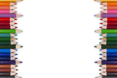 Красочная рамка 07 карандаша Стоковые Изображения RF
