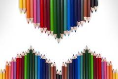 Красочная рамка 19 карандаша Стоковые Изображения RF
