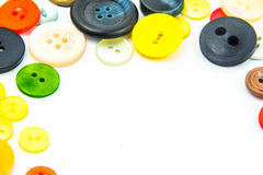 Красочная рамка кнопок Стоковое фото RF