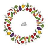 Красочная рамка овощей иллюстрация Стоковое фото RF