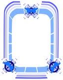 Красочная рамка при стилизованные изолированные бабочки Стоковая Фотография RF