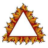 Красочная рамка треугольника с спуртами пламени также вектор иллюстрации притяжки corel Стоковые Изображения RF