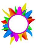 Красочная рамка 3d Стоковое Изображение