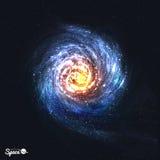 Красочная реалистическая спиральная галактика на космической предпосылке также вектор иллюстрации притяжки corel иллюстрация вектора