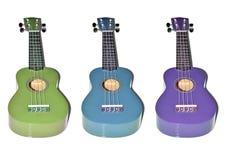 Красочная древесина гавайской гитары Стоковые Изображения RF
