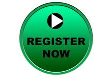 Красочная регистра предпосылка белизны кнопки сети теперь Стоковые Фото