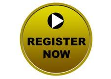 Красочная регистра предпосылка белизны кнопки сети теперь Стоковое Изображение RF