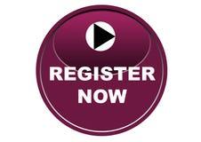 Красочная регистра предпосылка белизны кнопки сети теперь Стоковое Фото