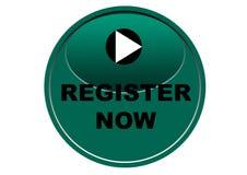 Красочная регистра предпосылка белизны кнопки сети теперь Стоковые Фотографии RF