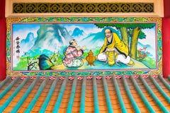 Красочная религиозная картина на святыне Li Thi Miew Стоковые Фото